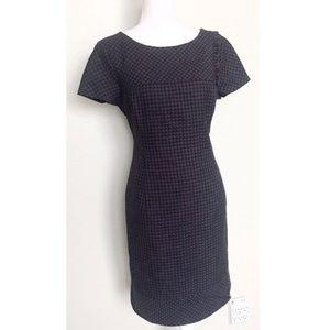 Jones New York Navy blue & Black HOUNDSTOOTH Dress
